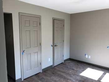 Gospel Gardens bedroom with closet